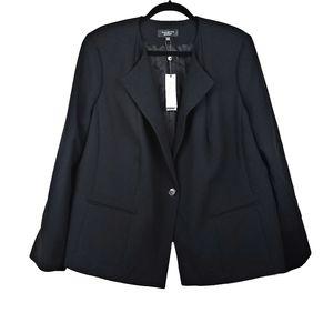 TALBOTS Black Grace Fit Classic Blazer 22WP